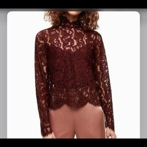 Wilfred Dalida lace blouse sz m